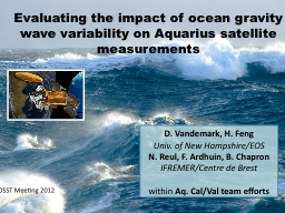 Evaluating the impact of ocean gravity wave variability on PowerPoint PPT Presentation