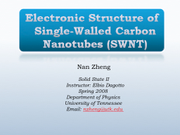 Electronic Structure of Single-Walled Carbon