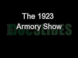 The 1923 Armory Show