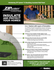 Continuous Foam Insulation Provides Higher R-value- Increases thermal