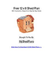 Free 12 x 8 Shed Plan With Illustrations, Blueprints & Step By Step De