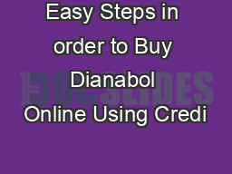 Easy Steps in order to Buy Dianabol Online Using Credi