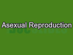Asexual Reproduction PowerPoint PPT Presentation