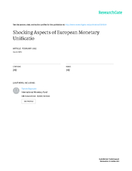 NBER WORKING PAPERS SERIESSHOCKING ASPECTS OF EUROPEAN MONETARY UNIFIC