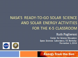 NASA's Ready-to-Go Solar Science PowerPoint PPT Presentation