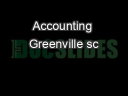 Accounting Greenville sc PDF document - DocSlides