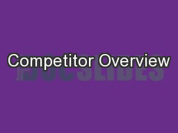 Competitor Overview PowerPoint PPT Presentation