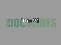 The 21