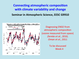 Connecting atmospheric composition