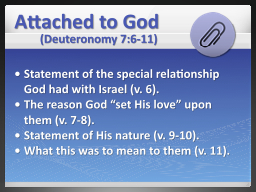 Attached to God