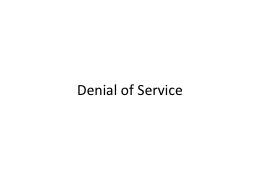 Denial of Service PowerPoint PPT Presentation