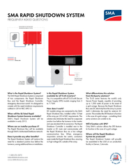 What is the Rapid Shutdown System? The SMA Rapid Shutdown System is co