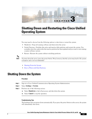Cisco Unified Operating System Maintenance Guide for Cisco Unified Pre