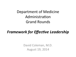 Department of Medicine PowerPoint PPT Presentation