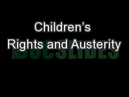 Children's Rights and Austerity