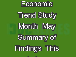 Online Buyer Economic Trend Study Month  May Summary of Findings  This study wa PDF document - DocSlides