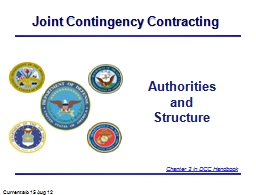 Joint Contingency Contracting PowerPoint PPT Presentation