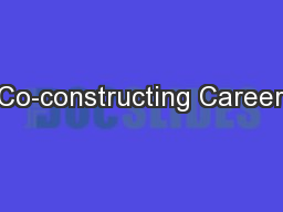 Co-constructing Career