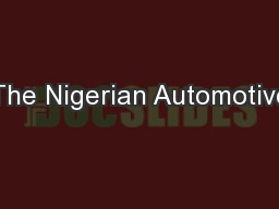 The Nigerian Automotive