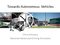 Towards Autonomous Vehicles PowerPoint PPT Presentation
