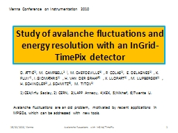 Study of avalanche fluctuations and energy resolution with