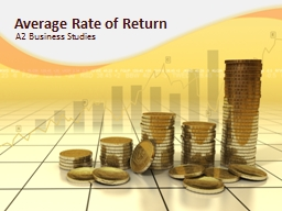 Average Rate of Return PowerPoint PPT Presentation