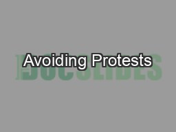 Avoiding Protests