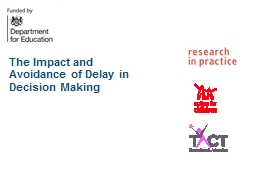 The Impact and Avoidance of Delay in Decision Making PowerPoint PPT Presentation