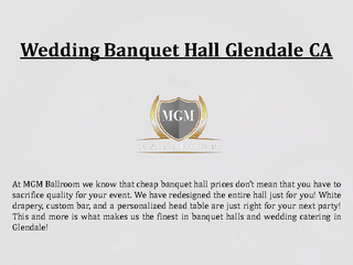 Wedding Banquet Hall Glendale CA