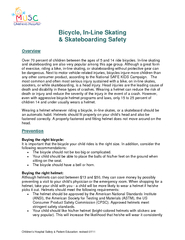 Bicycle, In-Line Skating & Skateboarding Safety