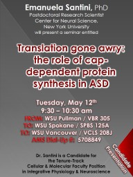 Translation gone awry: the role of cap-dependent protein sy