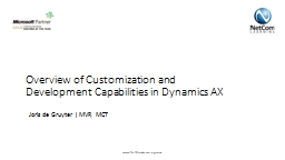 Overview of Customization and Development Capabilities in D