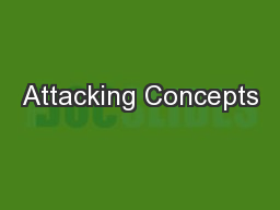 Attacking Concepts