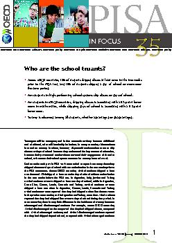 Who are the school truants?Teenagers will be teenagers; and in that un