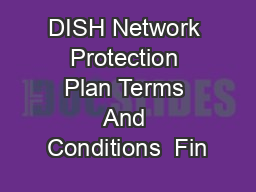 DISH Network Protection Plan Terms And Conditions  Fin