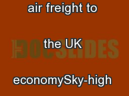 The importance of air freight to the UK economySky-high value ...