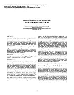 Paper No. 2006-JSC-440 WAVE IMPACT ON CIRCULAR CROSS-SECTION In a firs