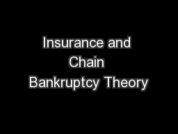 Insurance and Chain Bankruptcy Theory