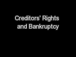 Creditors� Rights and Bankruptcy
