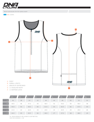 MENS SLEEVELESS TRI TOP SIZING CHART