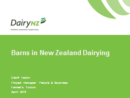 Barns in New Zealand Dairying