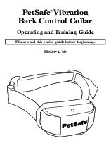 PetSafe Vibration Bark Control Collar Operating and Tr