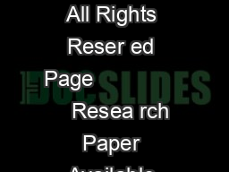 IJARCSSE All Rights Reser ed Page                  Resea rch Paper Available  PDF document - DocSlides