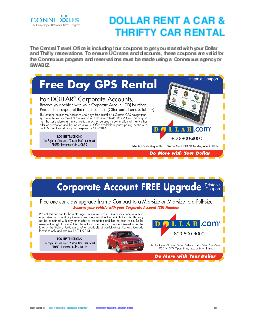 DOLLAR RENT A CAR THRIFTY CAR RENTAL The Central Trave