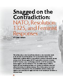 Snagged on the Contradiction:NATO, Resolution 1325, and Feminist Respo