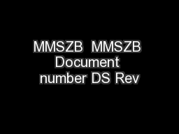 MMSZB  MMSZB Document number DS Rev PDF document - DocSlides
