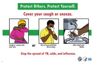 Stop the spread of TB, colds, and influenza.