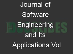 International Journal of Software Engineering and Its Applications Vol PDF document - DocSlides