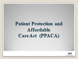 Patient Protection and Affordable