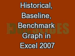 Historical, Baseline, Benchmark Graph in Excel 2007
